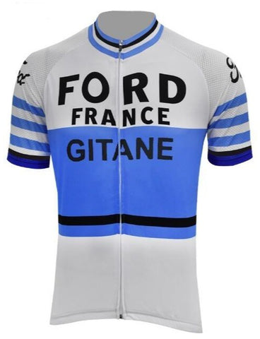 Ford France Gitane Retro Cycling Jersey