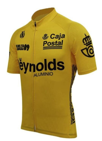 Yellow Reynolds Aluminio Retro Cycling Jersey