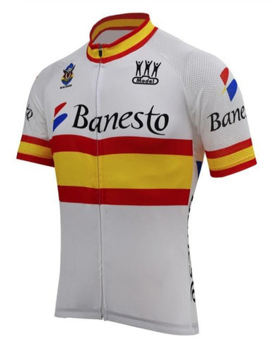 Banesto Spanish Flag Retro Cycling Jersey