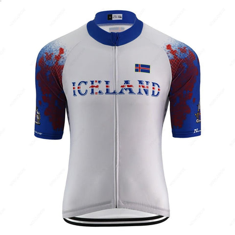 Iceland White Cycling Jersey