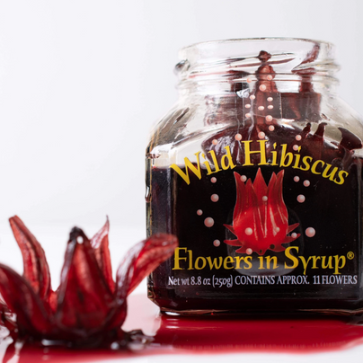 image of Wild Hibiscus Flower Co. Flowers in Syrup