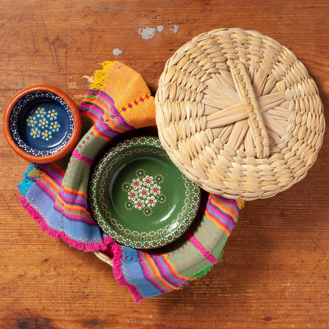 Milk Street Store - Mexico By Hand Mexico by hand Tortilla Serving Basket & Napkin