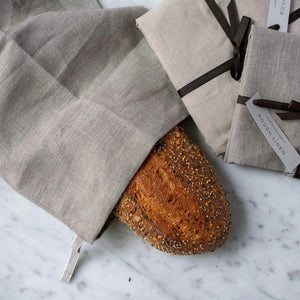 Milk Street Store - Rough Linen Rough Linen Long Bread Bag