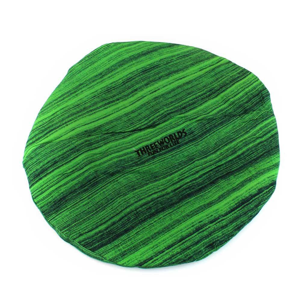 Djembe/Djembe Accessories/Accessories - Djembe Head Cover Green Stripe