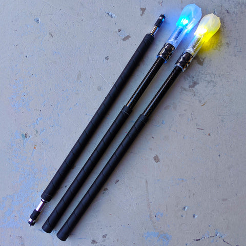 Fusion Carbon Fibre Contact Staff w/ Flowtoys LED Glow Ends