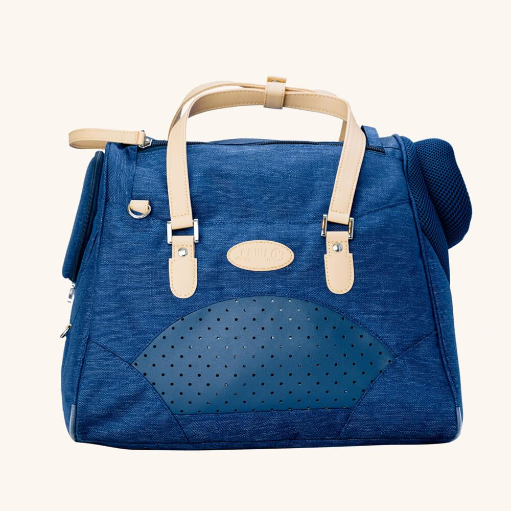 Dog Tote - Sapphire Blue - Goldie's the Gold Standard