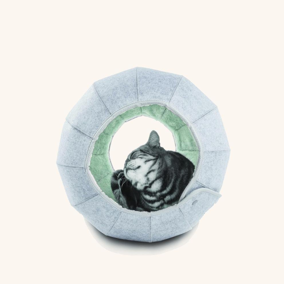 The D.Ball Cat Bed - Green/Grey - Goldie's the Gold Standard
