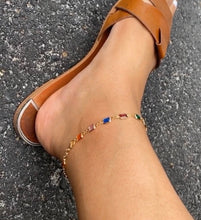 Load image into Gallery viewer, Rainbow Crystal Anklet