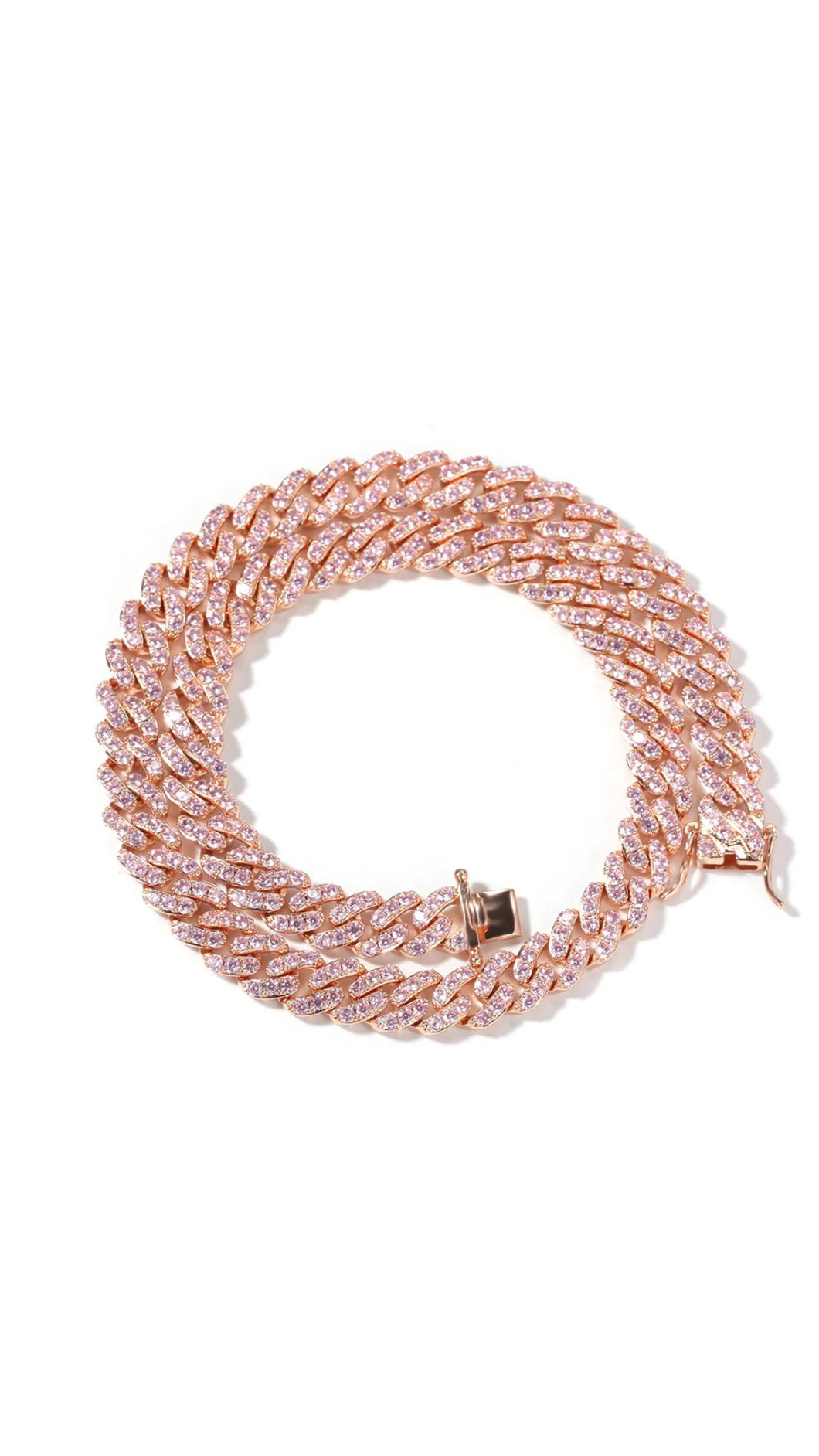 Mini Pink Cuban Link Necklace