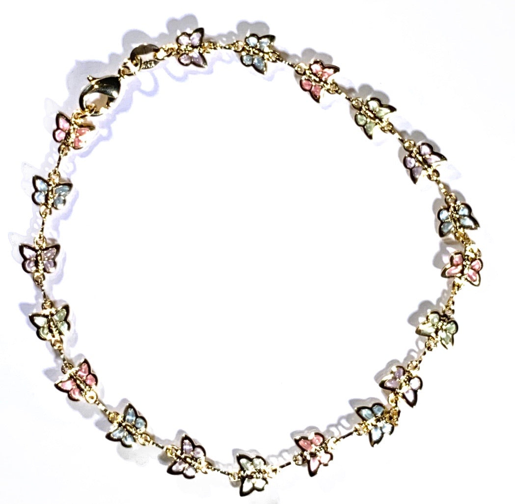 Colorful Butterfly Anklet