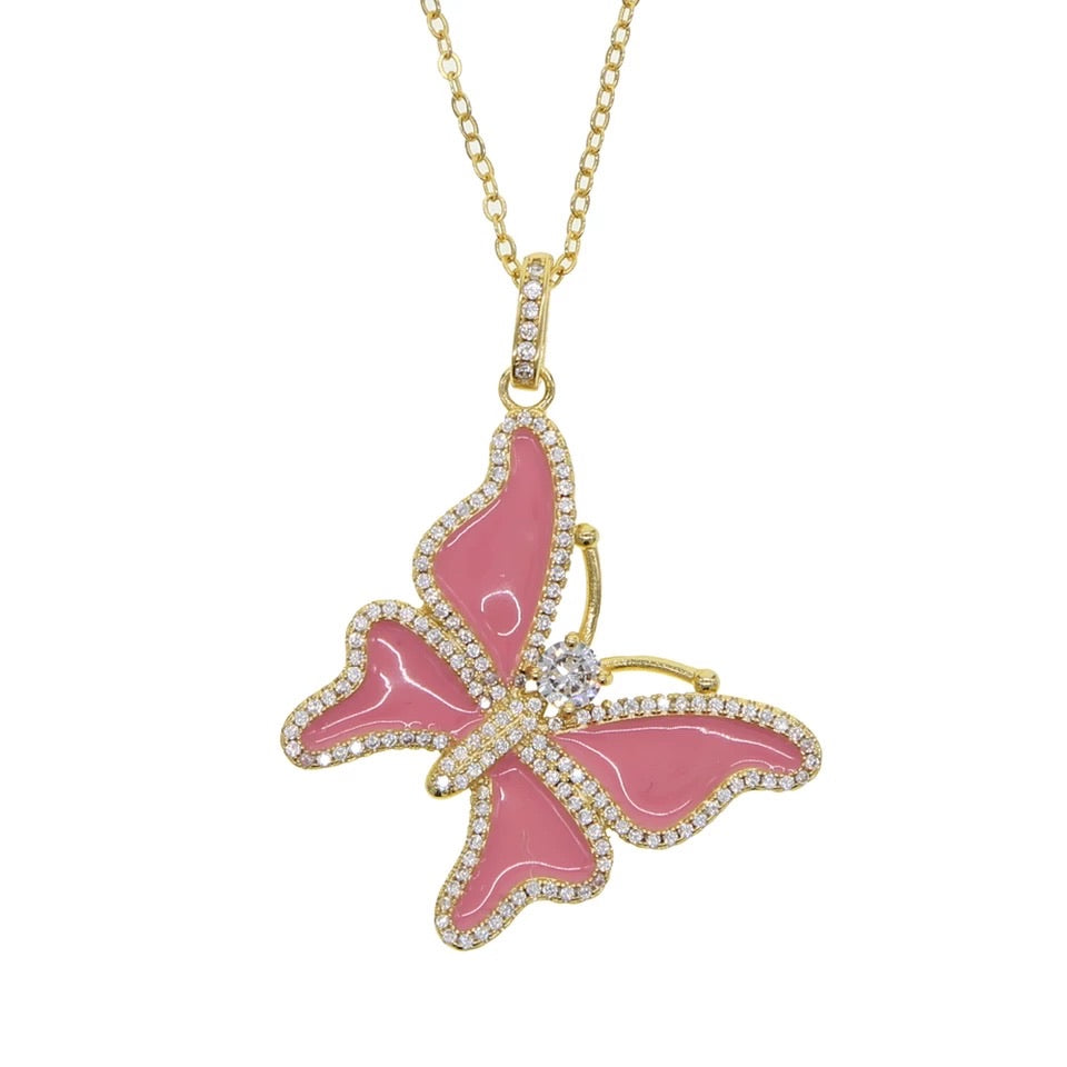 Butterfly Girl Necklace