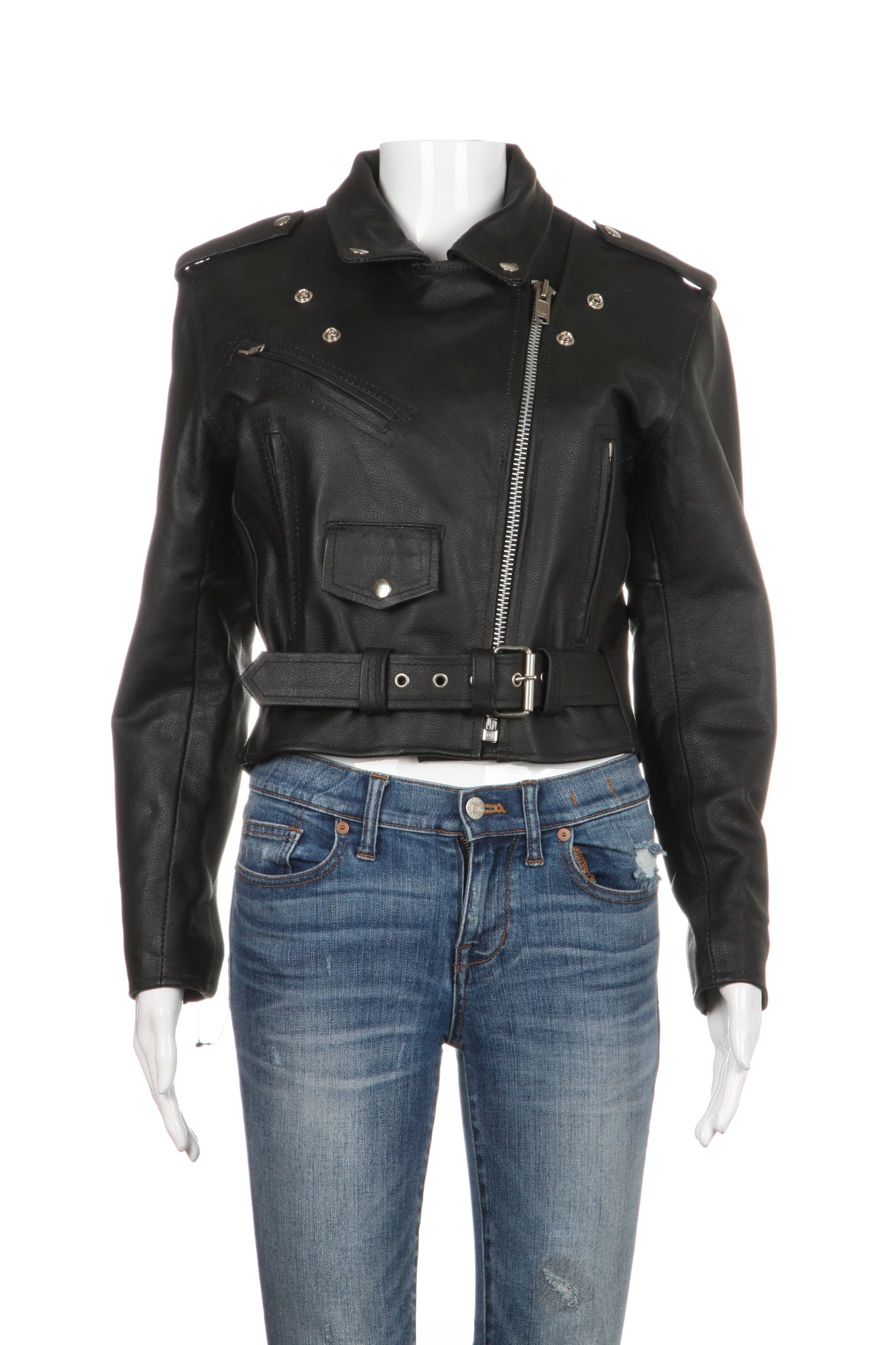 IK LEATHER Motorcycle Leather Jacket
