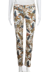 ZARA Skinny Tropical Print Pants Size 2