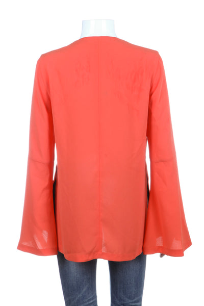 BCBG MAXAZRIA Nataleigh Blouse Orange Flared Sleeves Size XS (New)