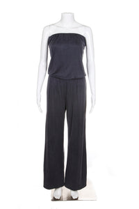 TART Jumpsuit Medium Blue Grey Strapless Pants Style-Hunting