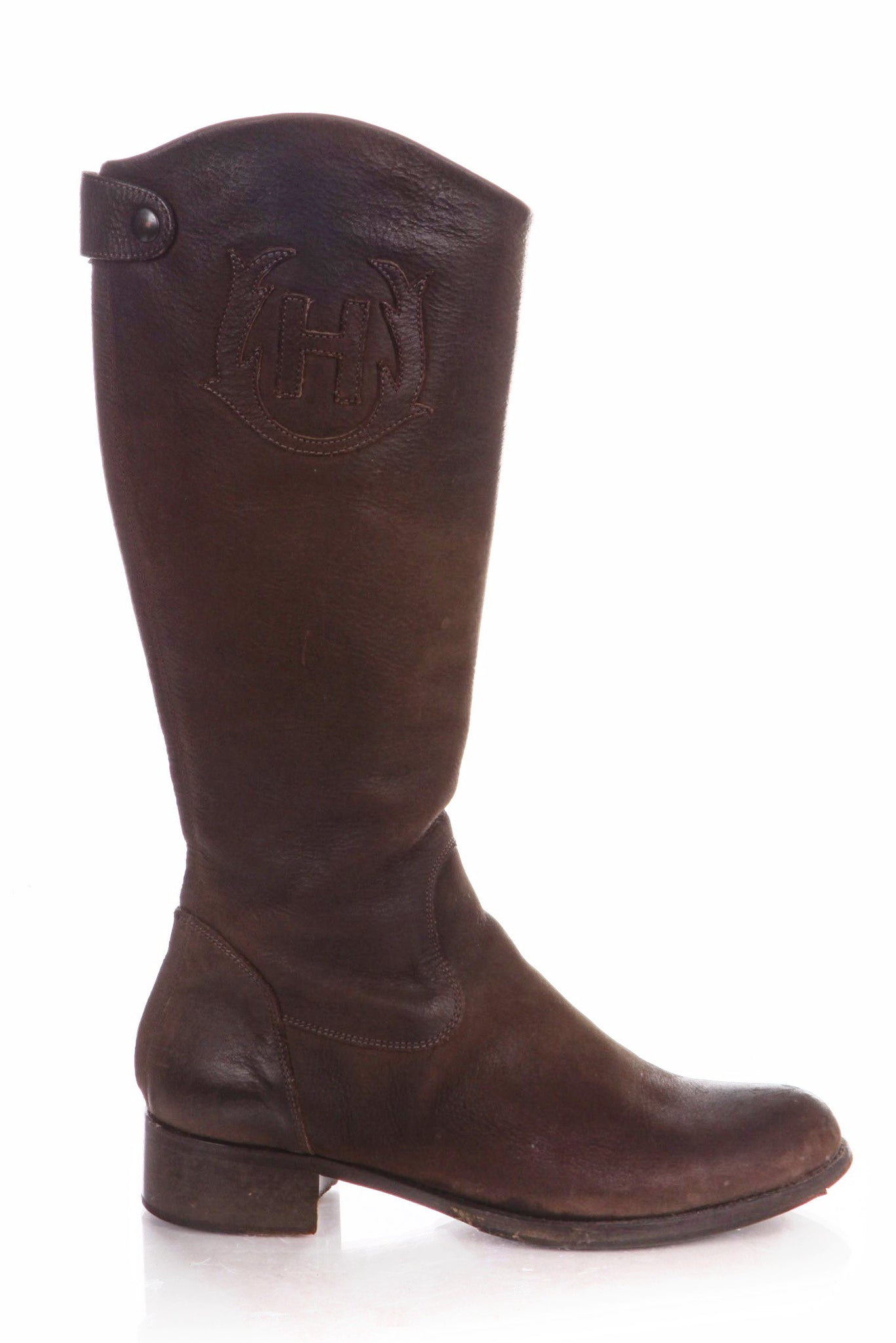 HUNTER Riding Boots Leather Knee High Equestrian Size 39