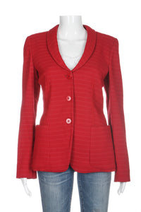 ARMANI COLLEZIONI Blazer Bright Red Fitted Textured