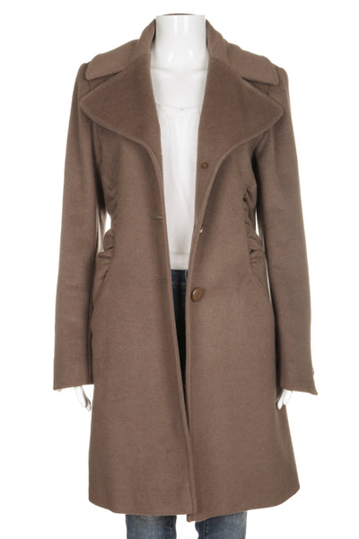 TAHARI Wool Blend Peacoat Taupe Brown Size 10