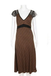 BAND OF GYPSIES Leopard Print Midi Dress Size S