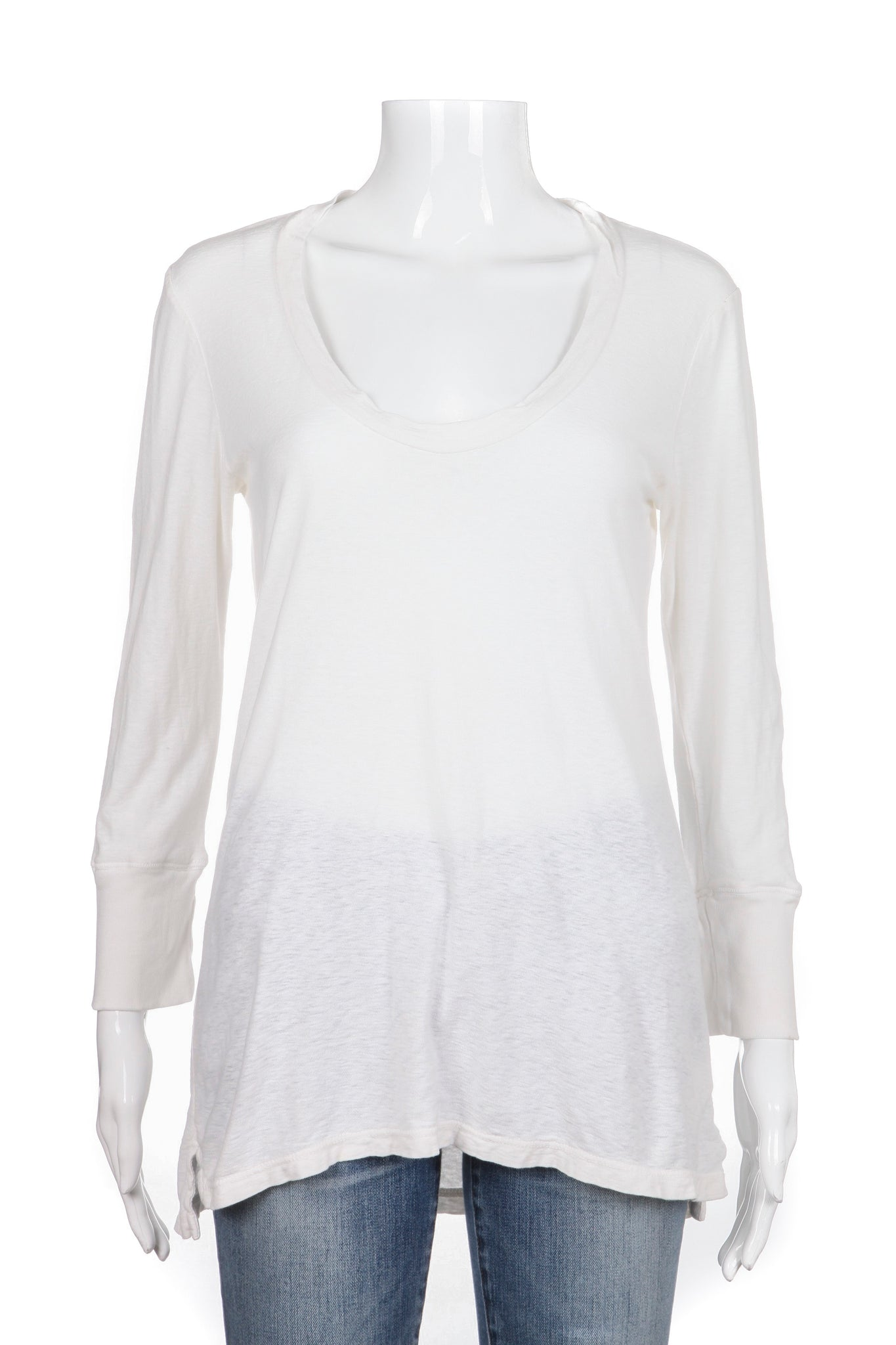 JAMES PERSE Standard Tee Oversize 3/4 Sleeve White