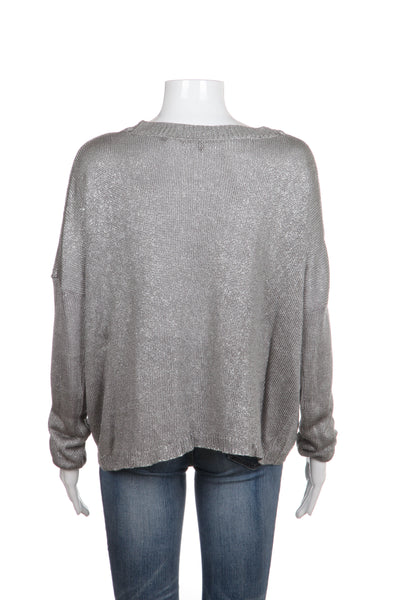 VINCE Sweater Knit Scoop Neck Size M