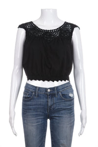 LOVE SHACK FANCY Crochet Crop Top Size 1