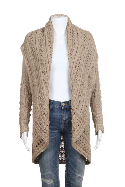 AUTUMN CASHMERE Open Cardigan Sweater Draped Size S