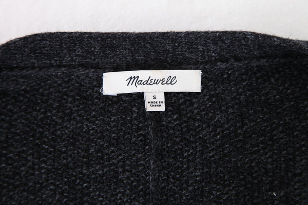 MADEWELL Cardigan Charcoal Gray Button Up Sweater Small