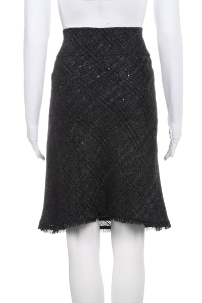 BURBERRY Sequin Fringe Skirt Size 6