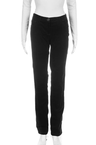 THEORY Corduroy Pants Black Mid Rise Straight Leg SIZE 10