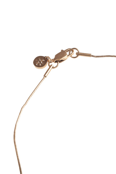 TORY BURCH Steer Head Pendant Necklace - lobster clasp closure