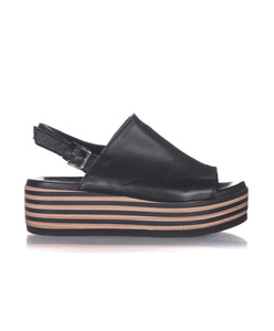 BATA Striped Platform Sandals