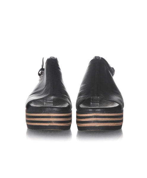 BATA Striped Platform Sandals  - front view