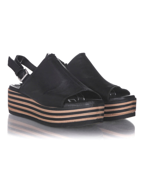 BATA Striped Platform Sandals  - side view
