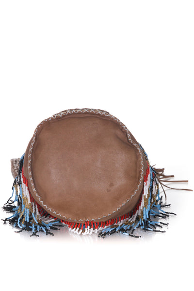 EN SHALLA Beaded Crossbody Bucket Bag - bottom view