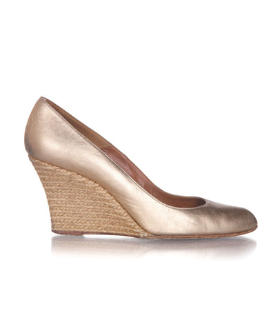 LANVIN Vintage Metallic Wedges