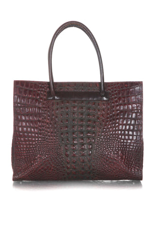 LODIS Croc Embossed Leather Tote Bag