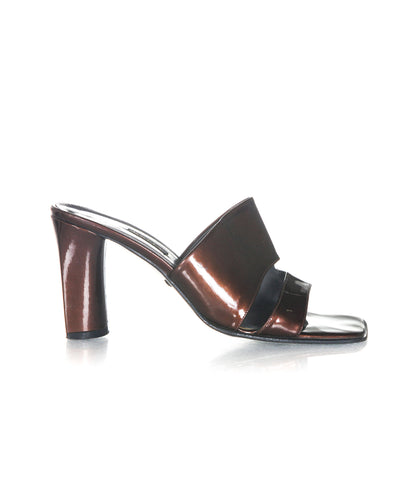 BALLY Vintage Patent Leather Sandals