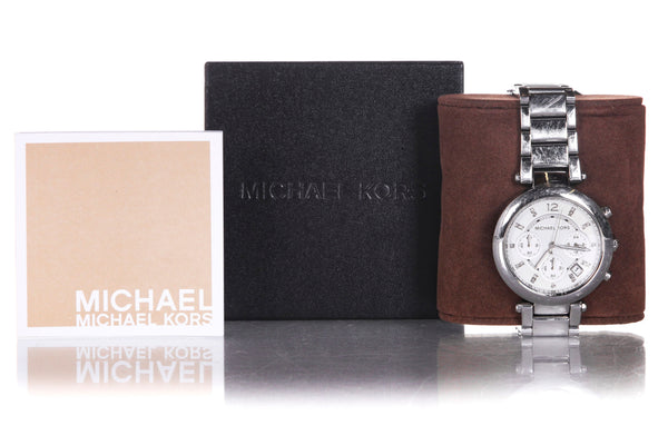 MICHAEL KORS Parker Glitz Chronograph Watch - with box and tags