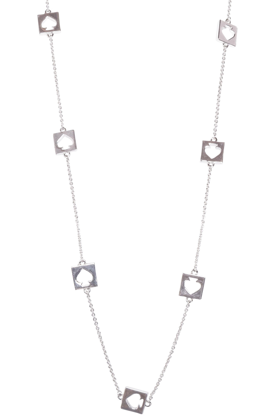 KATE SPADE Hole Punch Spade Station Necklace