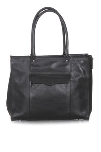 REBECCA MINKOFF Leather Structured Tote