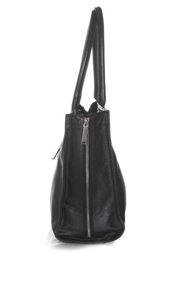REBECCA MINKOFF Leather Structured Tote - side view