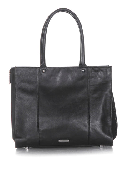 REBECCA MINKOFF Leather Structured Tote - back view