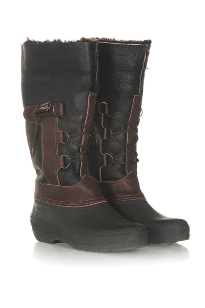 SEARLE Shearling Leather Winter Boots - side view