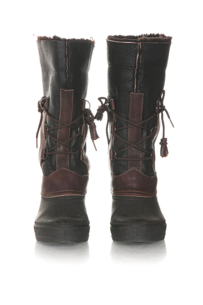 SEARLE Shearling Leather Winter Boots - front view