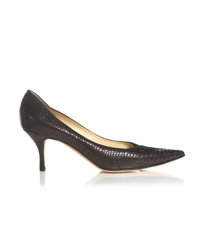 JIMMY CHOO Embossed Leather Pumps