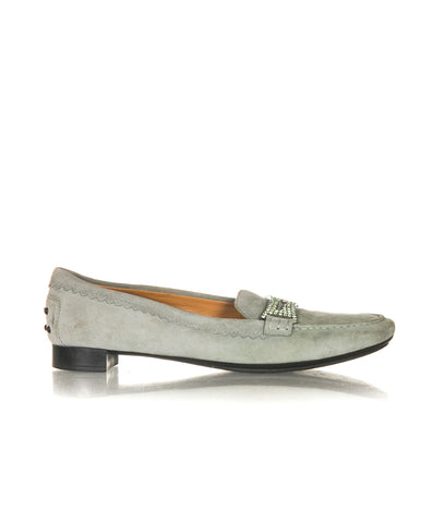 TOD'S Embellished Plaque Loafers