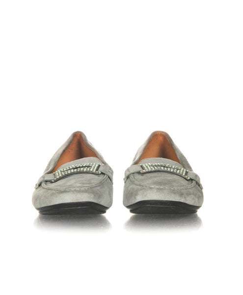 TOD'S Embellished Plaque Loafers - front view