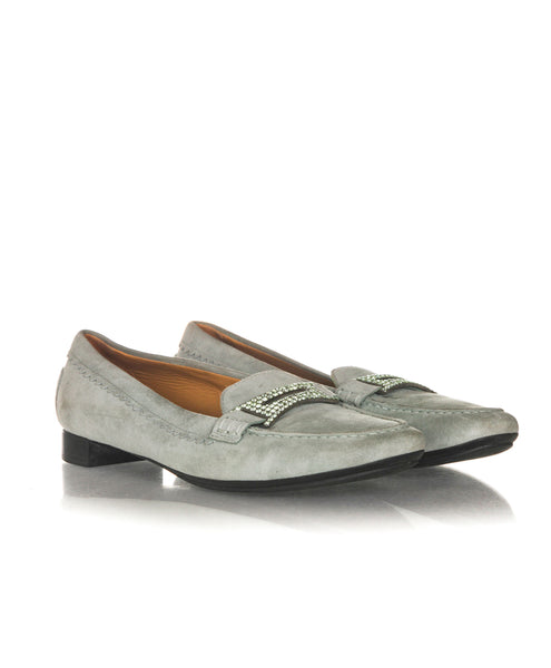 TOD'S Embellished Plaque Loafers - side view