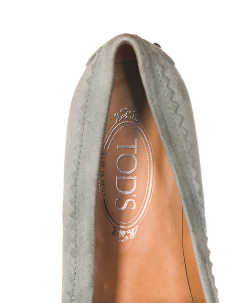 TOD'S Embellished Plaque Loafers - insole